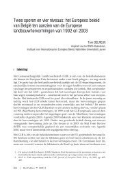 Twee sporen en vier niveaus: het Europees beleid van België ... - Acco