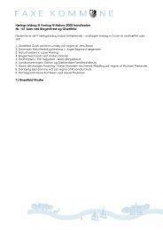 Høringsbidrag samlet for nr 161 - Faxe Kommune