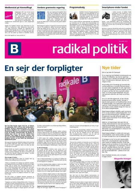 Nye tider - Radikale Venstre