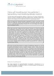 Fokus på hovedtraumer hos patienter i behandling med ... - DPSD