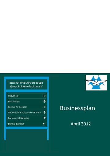 het businessplan d.d. april 2012 plus bijbehorend ruimetelijk ...