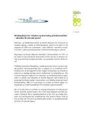 Retningslinjer for visitation og henvisning på ... - Danske Regioner
