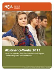 Abstinence Works 2013 - National Abstinence Education Association