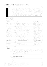 Tijdpad en aandachtspunten groepsvoorlichting - Forum, Instituut ...