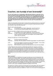 Effectief leiderschap door continue coaching van uw callcenter ...