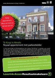Te Koop in Almelo Royaal appartement met parkeerkelder