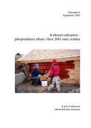 Kulturarvsadoption - pilotprojektets arbete våren 2003 samt resultat