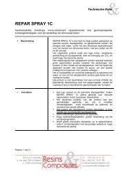 REPAR SPRAY 1C (technische fiche) - Resins & Composites