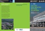 Ein ORT DES GEISTES Mitten IM REVIER - Ruhr-Universität ...