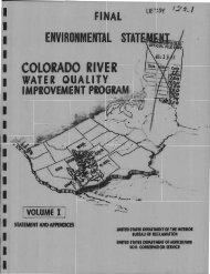 Colorado River Water Quality Improvement Program, Final ...