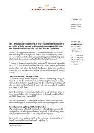 EBST's stillingtagen til høringssvar vedr ... - Erhvervsstyrelsen