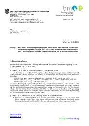 Erlass- Ausnahmegenehmigungen hinsichtlich der Richtlinie über ...