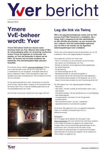 Yver bericht - Yver. Experts in VvE beheer