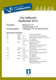 City träffpunkt September 2012