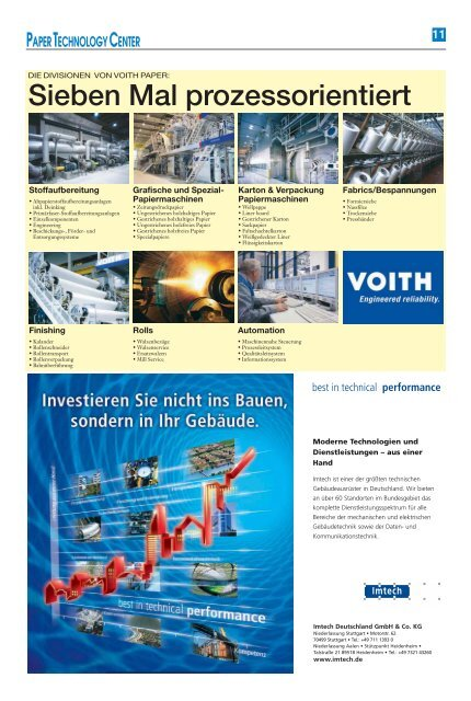 Voith Paper Technology Center - Schwäbische Post