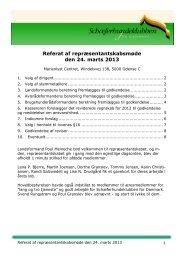 Referat af repræsentantskabsmøde den 24. marts 2013