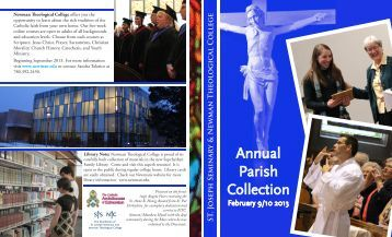 Annual Parish Collection - Catholic Archdiocese of Edmonton