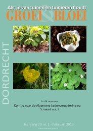 Februari 2013 - Dordrecht - Groei & Bloei