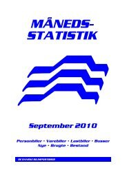 MÅNEDS- STATISTIK September 2010