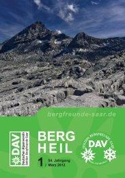 Berg Heil 1 / 2012 - Bergfreunde-Saar