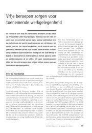 Vrije beroepen zorgen voor toenemende werkgelegenheid - Acco