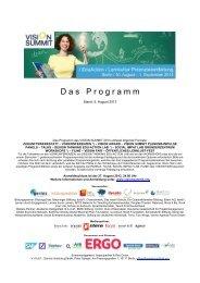 Programm - Vision Summit