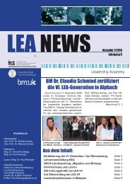 LEA NEWS Ausgabe 1/2010 - Leadership Academy