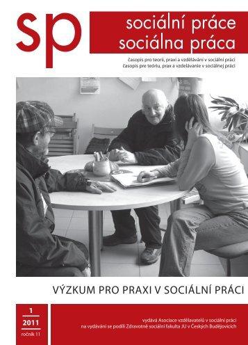 titulka na web - Sociální práce