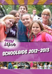 Schoolgids 2012-2013 - ZoomMavo