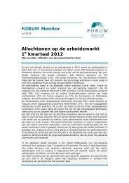 Monitor Allochtonen op de arbeidsmarkt - Forum, Instituut voor ...