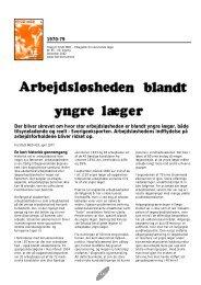 X: 145 - Arbejdsløsheden blandt yngre læger - Stud. Med.
