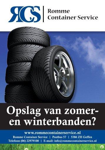 Opslag van zomer- en winterbanden? - Romme Container Service