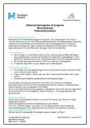 Kikkertundersøgelse af lungerne - Bispebjerg Hospital