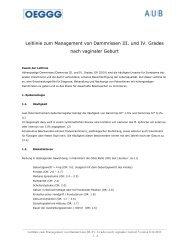 Leitlinie zum Management von Dammrissen III - AUB