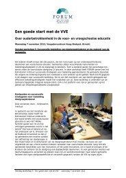 Verslag workshop 5: Succesvolle toeleiding van doelgroepkinderen ...