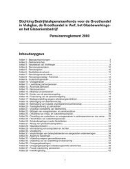 Stichting Bedrijfstakpensioenfonds voor de Groothandel in ... - BPFV.nl