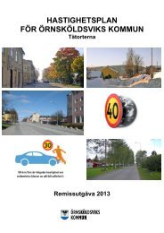 Hastighetsplan, remissutgåva 2013 - Örnsköldsviks kommun