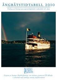 Ångbåtstidtabellen 2010 - Sveriges Ångbåtsförening