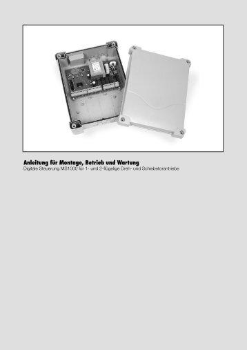 Betriebsanleitung Steuerung MS1000 - bei Berner Torantriebe