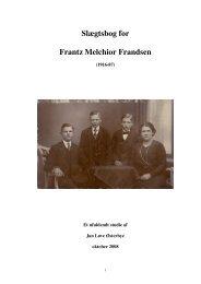 Slægtsbog for Frantz Melchior Frandsen - Jan Løve Østerbye