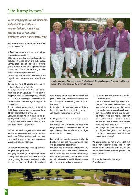 Clubblad mei – juni 2013 - Hoenshuis Golf