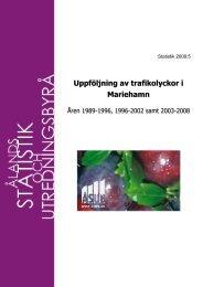 Uppföljning av trafikolyckor i Mariehamn 2003-2008 - ÅSUB
