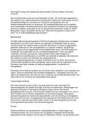 Informatief verslag Informatieavond aanwonenden Avontuur Natuur ...