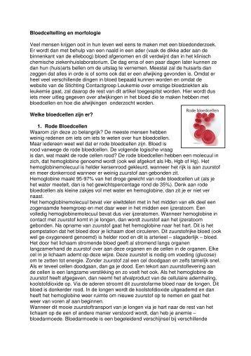 Bloedwaarden - Stichting Contactgroep Leukemie