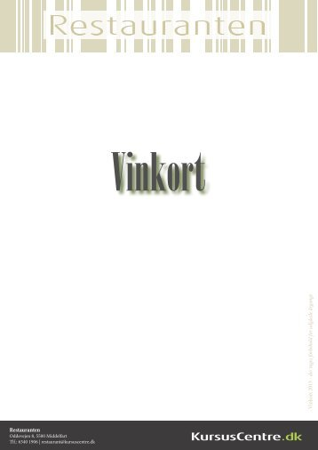 Vinkort for Restauranten - Kursuscentre