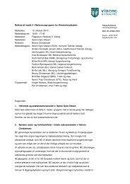 Referat af møde 3 i referencegruppen 13.10.2010 - Viborg Kommune