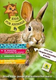 blad voor jonge dierenbeschermers - Kids For Animals