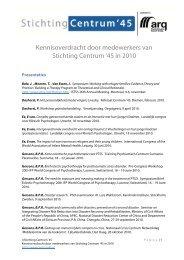 Overzicht van de activiteiten van medewerkers ... - Stichting Centrum