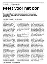 Hans Maarten van den Brink - Feest voor het oor ... - Mediafonds