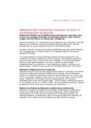 pressemeddelelse om økologiudspillet - Københavns Madhus
